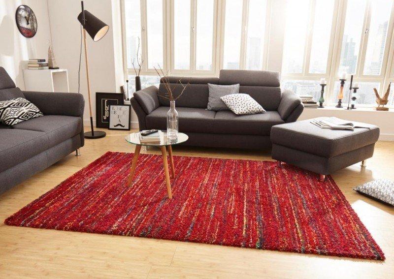 Červený moderní kusový koberec Nomadic - délka 150 cm a šířka 80 cm