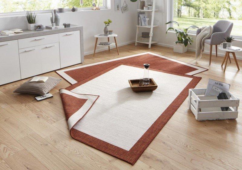 Hnědý kusový oboustranný koberec Twin-Wendeteppiche