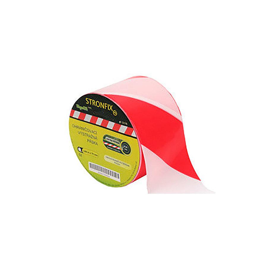 Bílo-červená vytyčovací páska - délka 500 m a šířka 7,5 cm