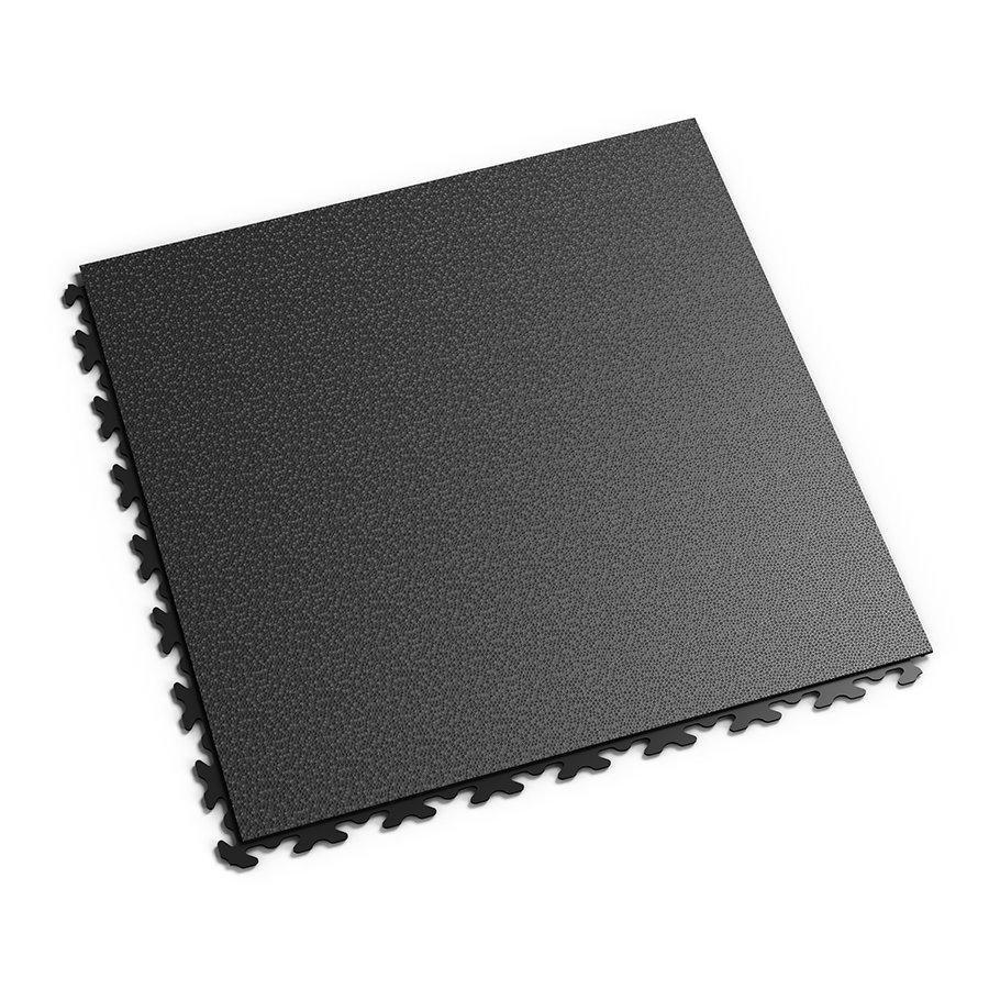 Černá vinylová plastová zátěžová dlaždice Invisible 2030 (hadí kůže), Fortelock - délka 46,8 cm, šířka 46,8 cm a výška 0,67 cm