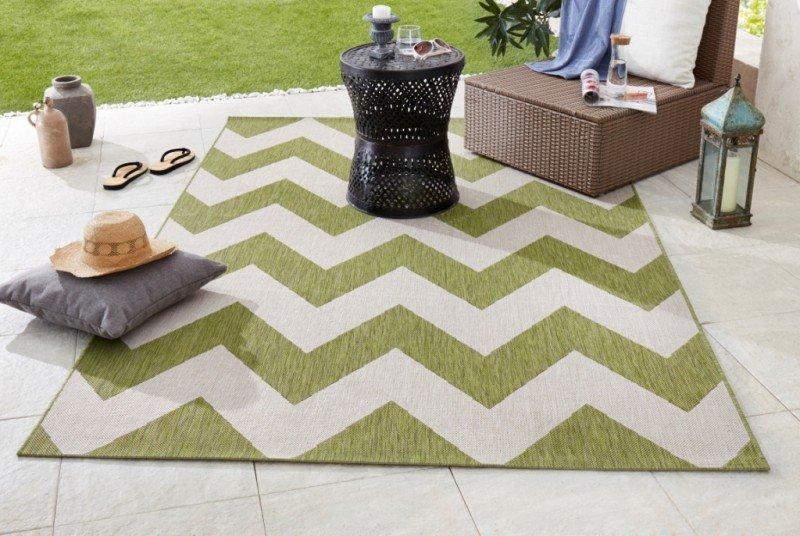 Zelený kusový moderní koberec Meadow - délka 170 cm a šířka 120 cm