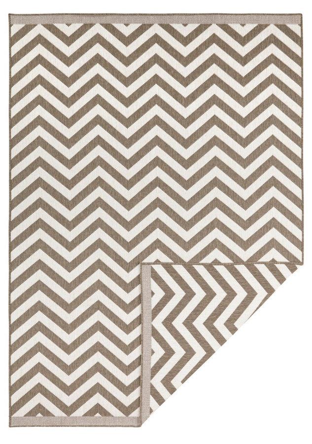 Světle hnědý oboustranný moderní koberec Twin-Supreme, Palma