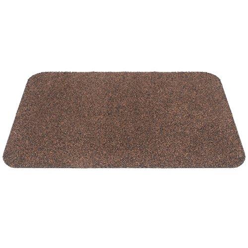Hnědá textilní bavlněná čistící vnitřní vstupní pratelná rohož Natuflex - výška 0,8 cm