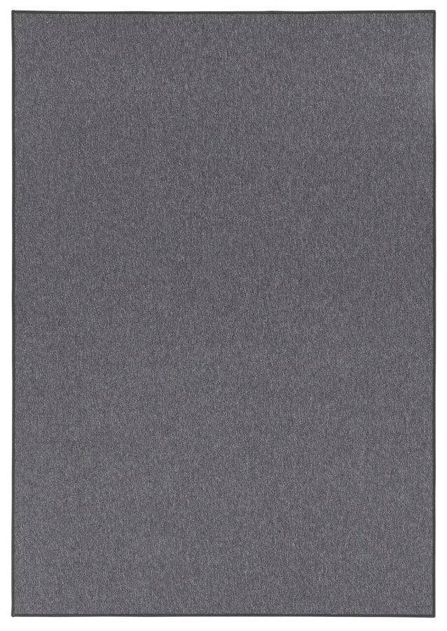 Šedý bytový kusový koberec