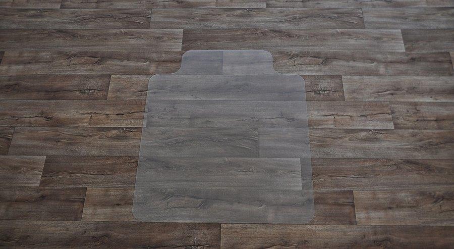 Čirá podložka na hladké povrchy pod židli - délka 120 cm, šířka 100 cm a výška 0,15 cm