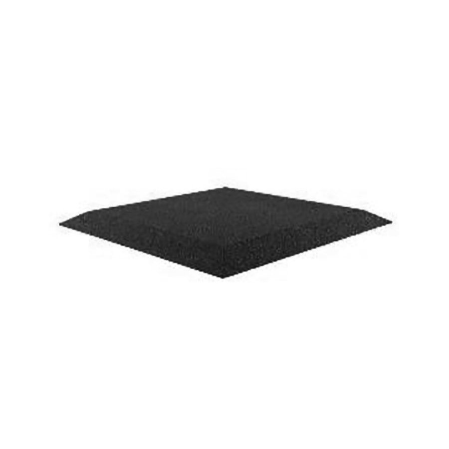 Černá gumová krajová deska (V30/R00) (roh) - délka 50 cm, šířka 50 cm a výška 3 cm