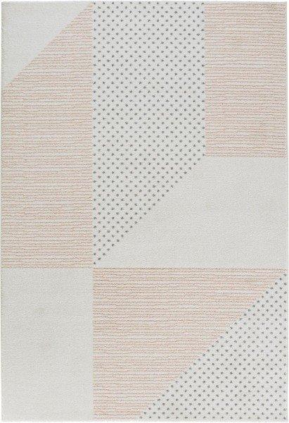 Bílý moderní kusový koberec Madison - délka 170 cm a šířka 120 cm