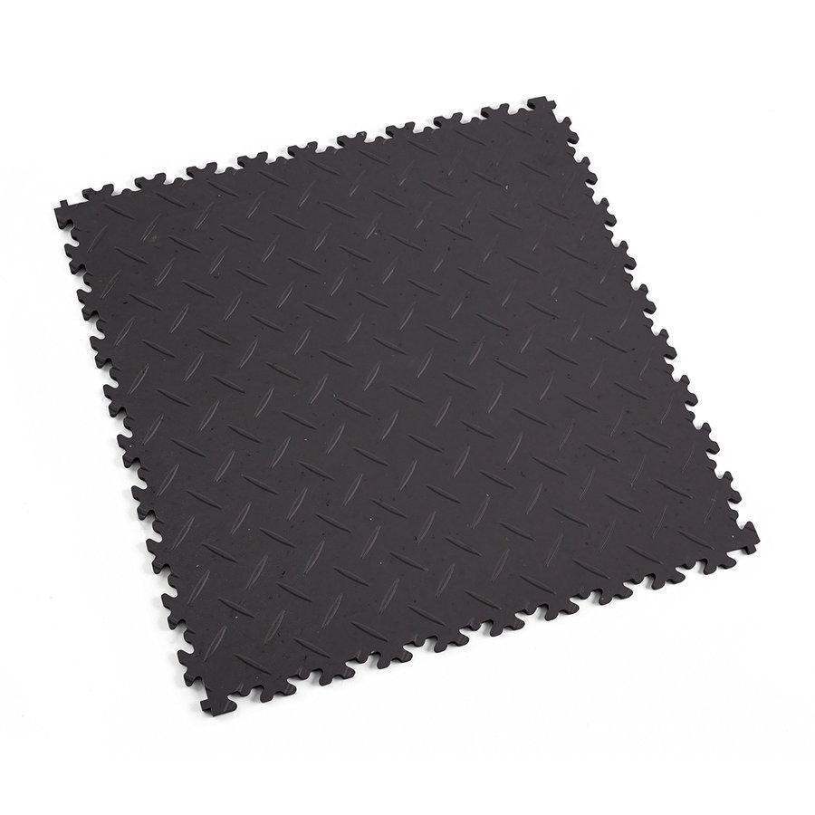Šedá plastová vinylová zátěžová dlaždice Eco 2010 (diamant), Fortelock - délka 51 cm, šířka 51 cm a výška 0,7 cm