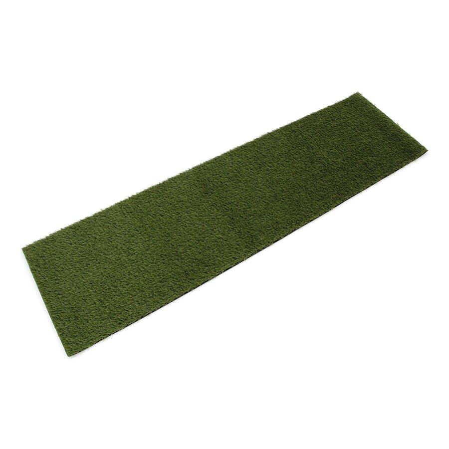 Zelená rohož s umělým trávníkem FLOMA Pesaro - 140 x 40 x 2 cm