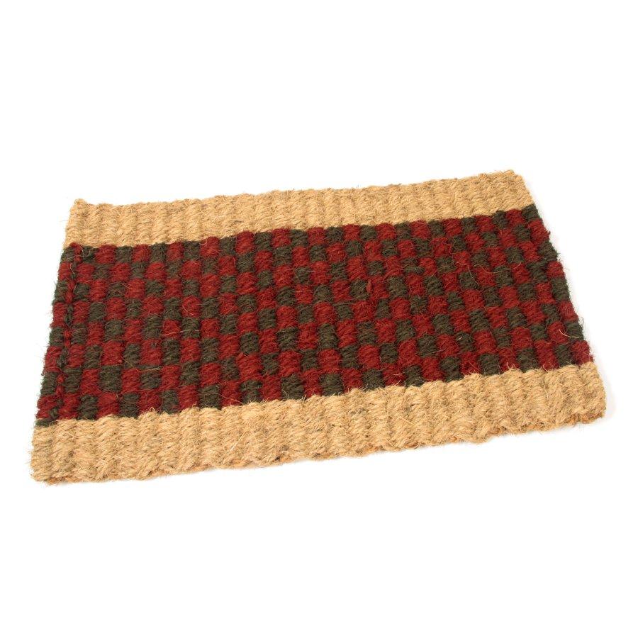 Kokosová vstupní venkovní čistící rohož Colored Stripe, FLOMAT - délka 35 cm, šířka 60 cm a výška 2,5 cm