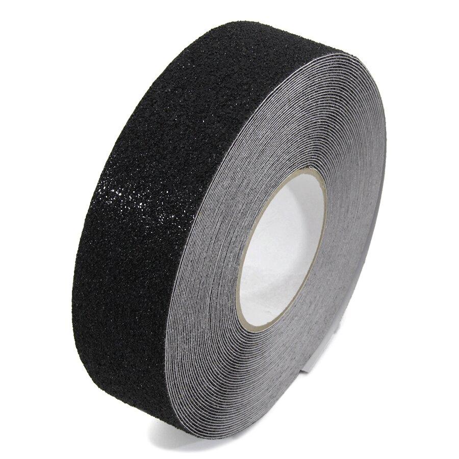 Černá korundová podlahová páska Super - 18,3 m x 5 cm
