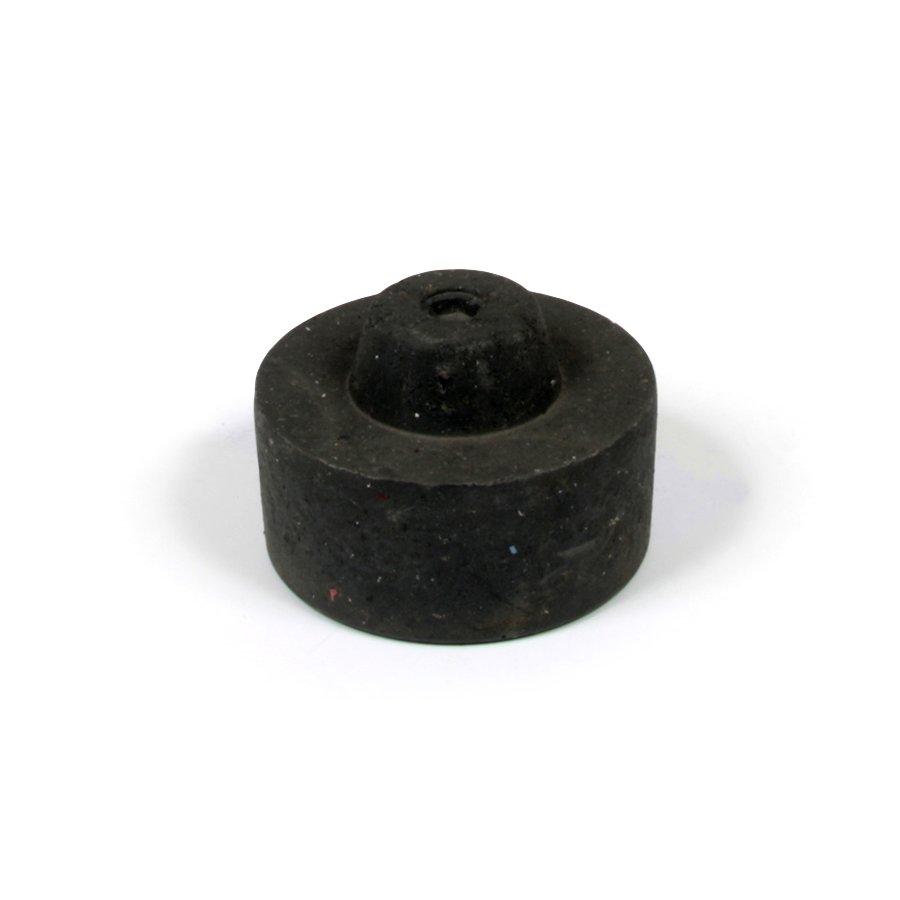 """Černá plastová koncovka """"samec"""" pro silniční obrubníky - délka 14,5 cm, šířka 14,5 cm a výška 6 cm"""