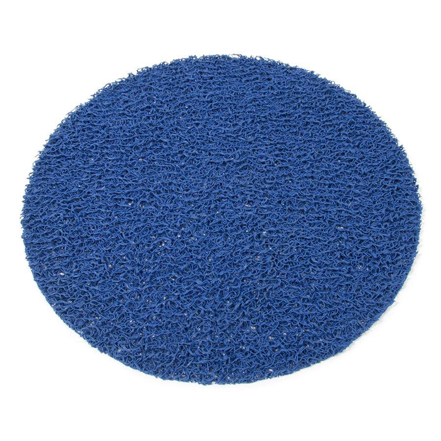 Modrá plastová vinylová protiskluzová sprchová kulatá rohož Spaghetti, FLOMAT - průměr 54 cm a výška 1,2 cm