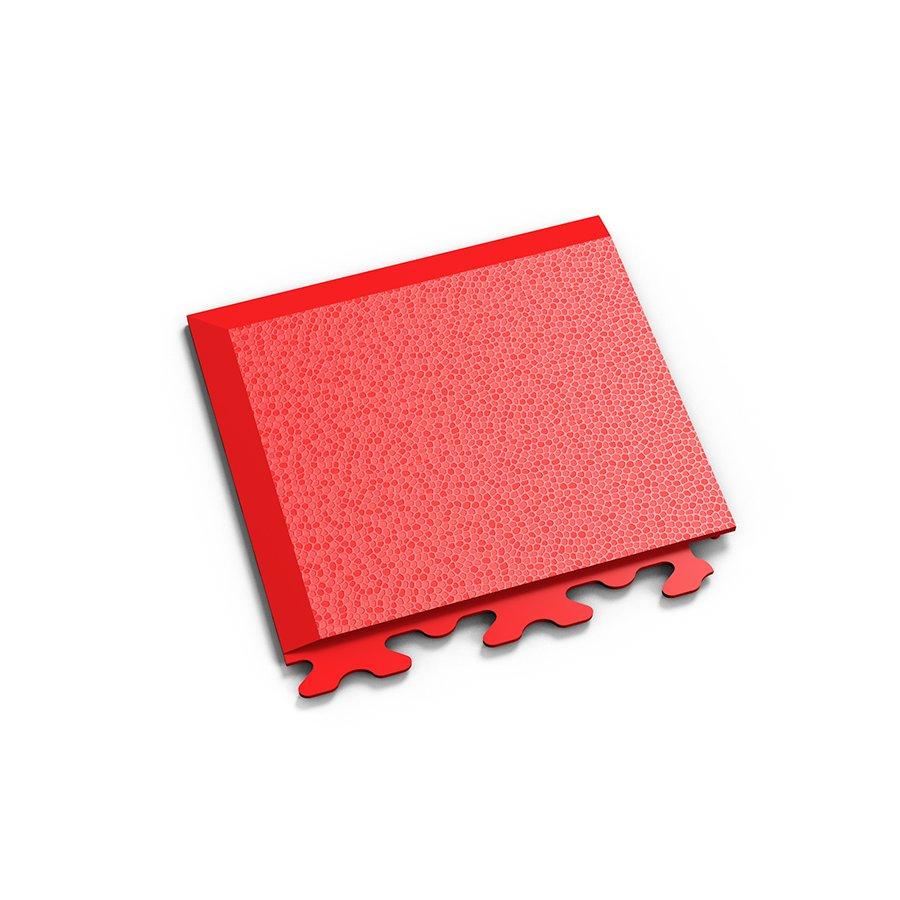 "Červený plastový vinylový rohový nájezd ""typ A"" Invisible 2036 (hadí kůže), Fortelock - délka 14,5 cm, šířka 14,5 cm a výška 0,67 cm"