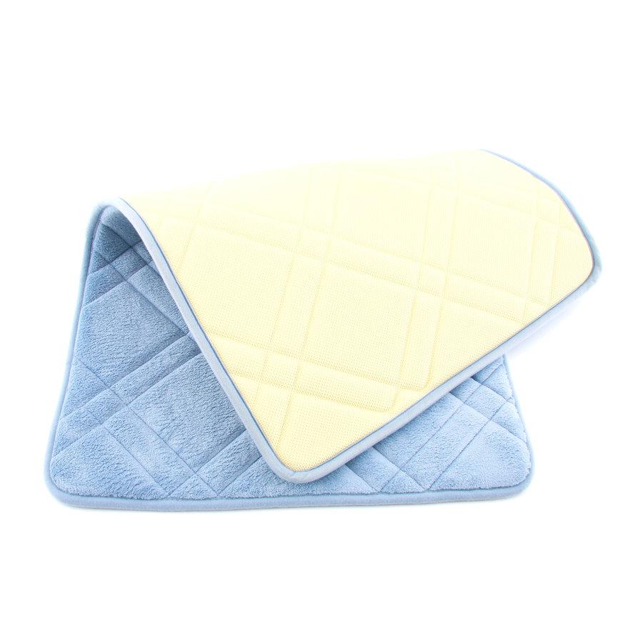 Modrá pěnová koupelnová předložka - délka 85 cm a šířka 52 cm
