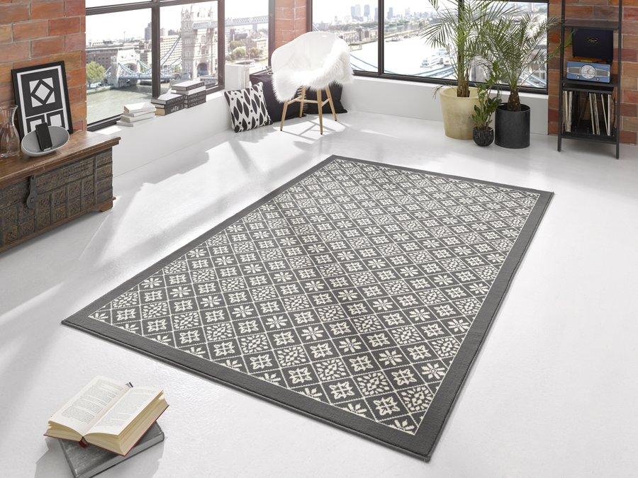 Šedý moderní kusový koberec Gloria - délka 170 cm a šířka 120 cm