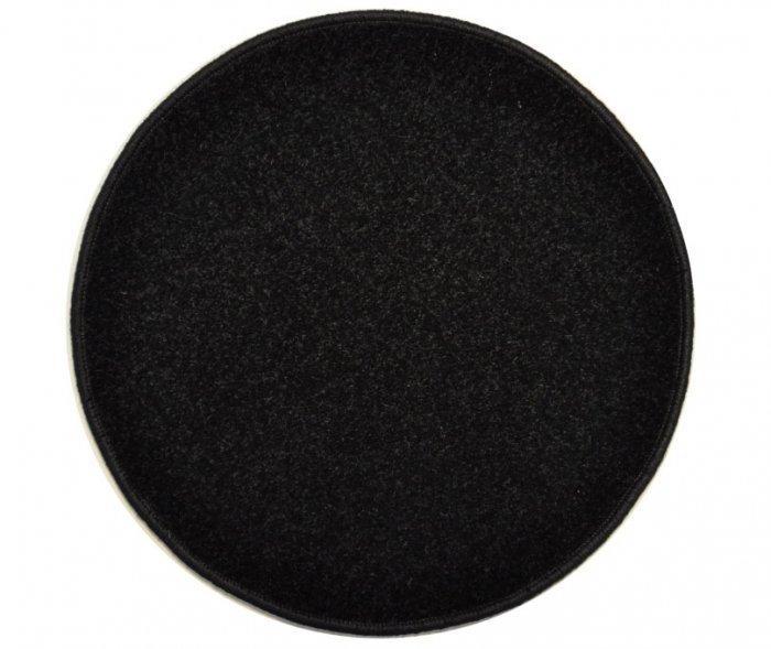 Černý kusový koberec Eton