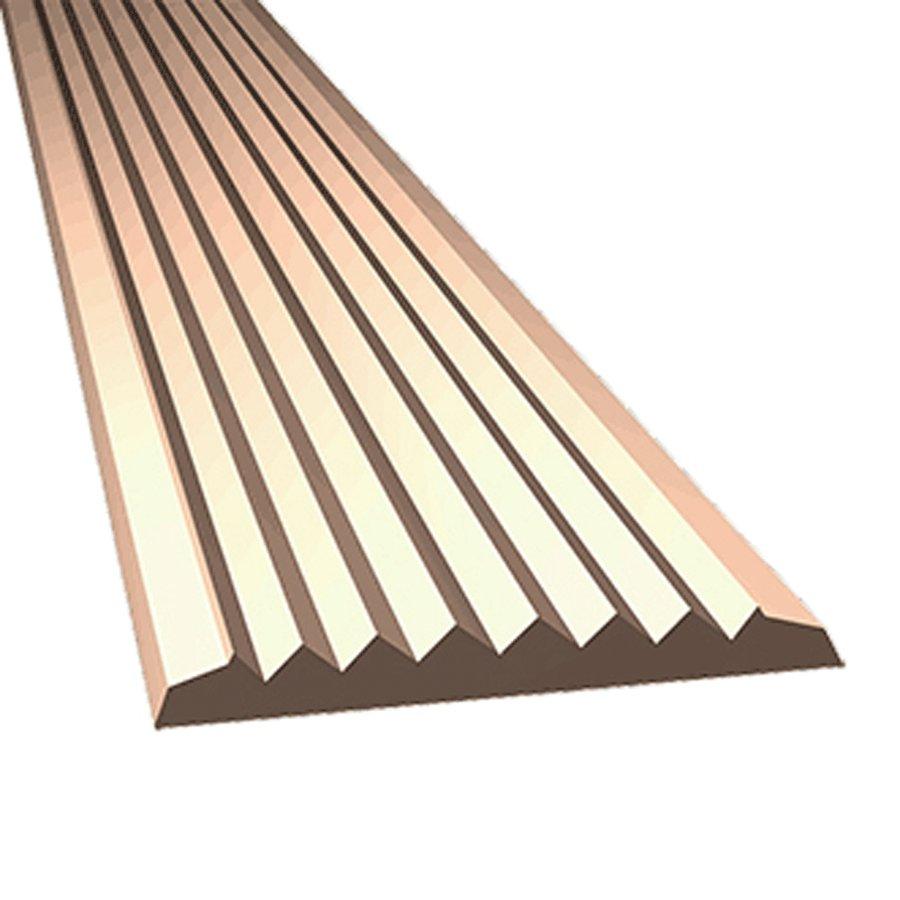 Béžová gumová protiskluzová schodová lišta - délka 5 m, šířka 4,7 cm a výška 0,45 cm
