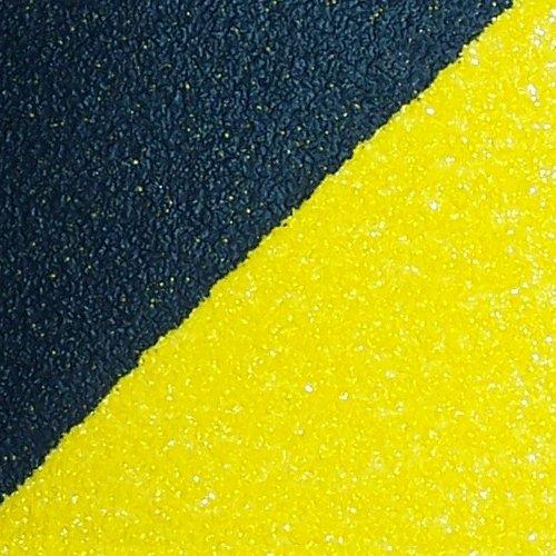 Černo-žlutá korundová samolepící protiskluzová páska (pás) - délka 61 cm a šířka 15,2 cm