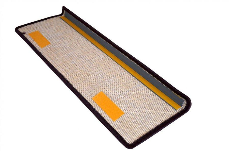 Fialový kobercový nášlap na schody Eton - délka 65 cm a šířka 24 cm, Fialový kobercový koberec na schody Eton - délka 65 cm a šířka 24 cm