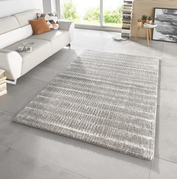 Šedý moderní kusový koberec Stella - délka 150 cm a šířka 80 cm