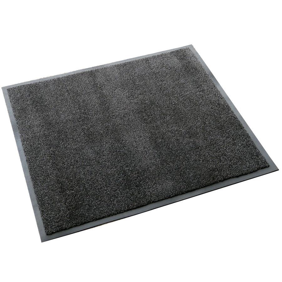 Antracitová textilní vstupní vnitřní čistící zátěžová rohož Magic - délka 85 cm, šířka 75 cm a výška 0,8 cm
