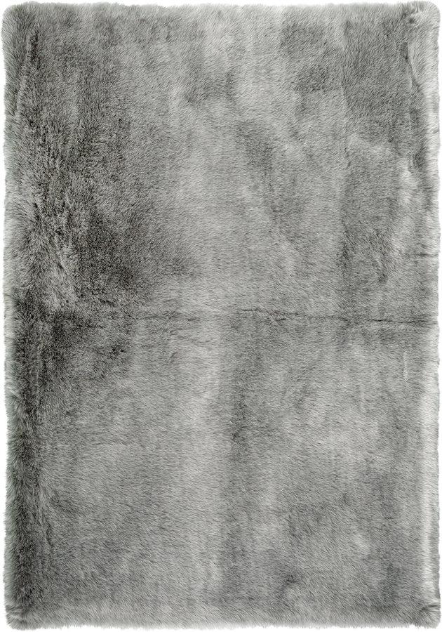 Šedý kusový koberec Samba - délka 80 cm a šířka 80 cm