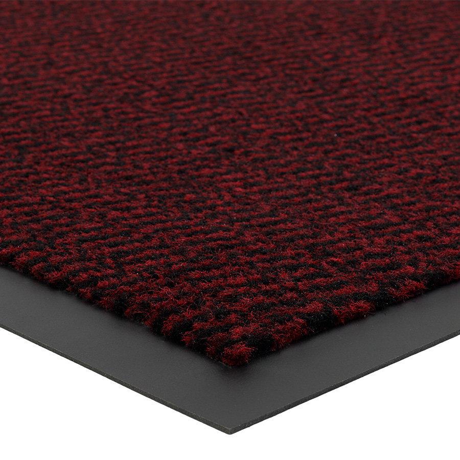 Červená metrážová čistící vnitřní vstupní rohož (lem - 2 strany) Spectrum, FLOMA - délka 1 cm a výška 0,5 cm