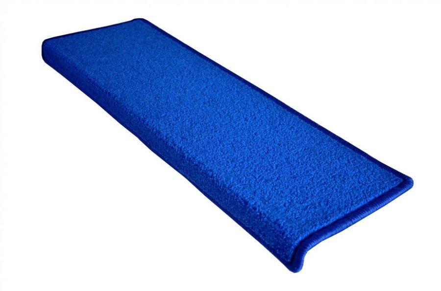 Modrý kobercový nášlap na schody Eton - délka 24 cm a šířka 65 cm