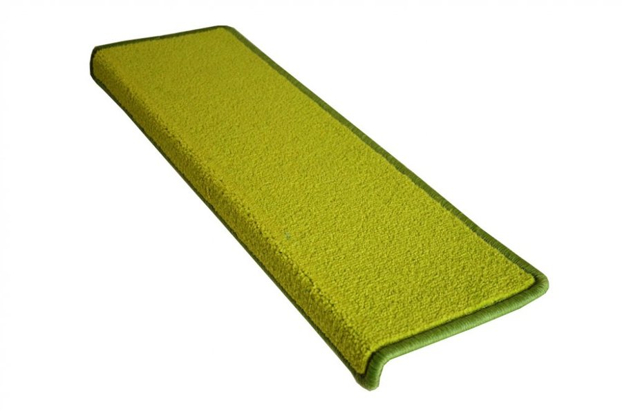 Zelený kobercový obdélníkový nášlap na schody Eton - délka 65 cm a šířka 24 cm