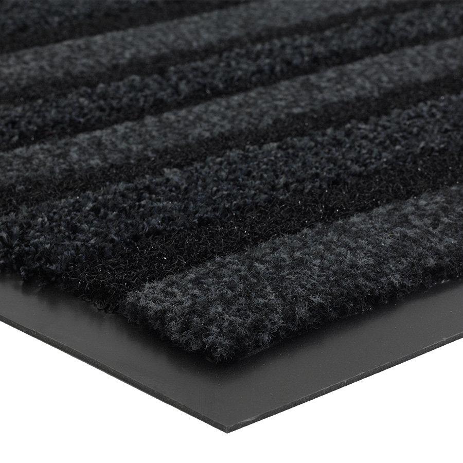 Antracitová vnitřní čistící vstupní rohož FLOMA Passage (Cfl-S1) - délka 135 cm, šířka 200 cm a výška 0,9 cm