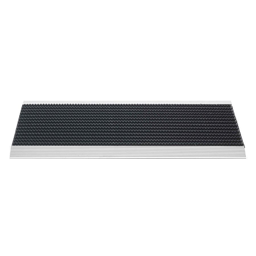 Černá venkovní čistící kartáčová rohož Outline - 35 x 80 x 2,2 cm