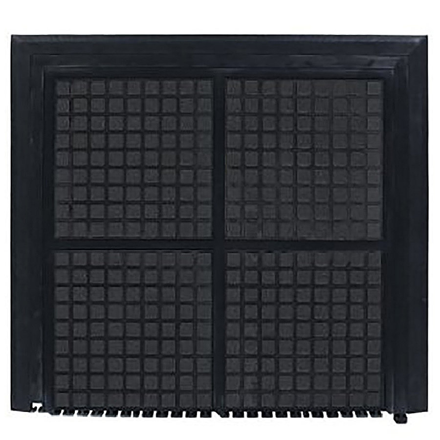 Černá podlahová protiúnavová rohož (zakončení) - délka 101 cm, šířka 111 cm a výška 1,9 cm