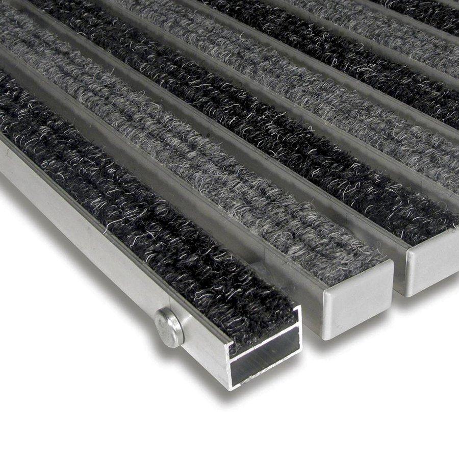 Textilní hliníková čistící vnitřní vstupní rohož Alu Standard, FLOMAT - délka 100 cm, šířka 100 cm a výška 2,2 cm