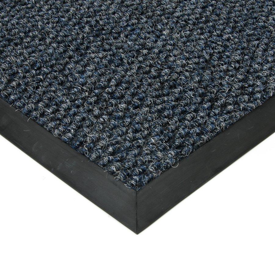 Modrá textilní zátěžová čistící vnitřní vstupní rohož Fiona, FLOMAT - výška 1,1 cm