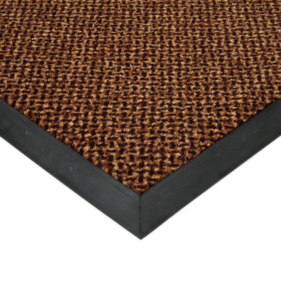 Hnědá textilní čistící vnitřní vstupní rohož Cleopatra Extra, FLOMAT - výška 1 cm