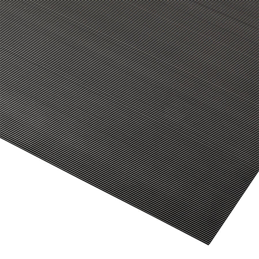Černá antistatická rohož Rib 'n' Roll - délka 150 cm, šířka 120 cm a výška 0,3 cm