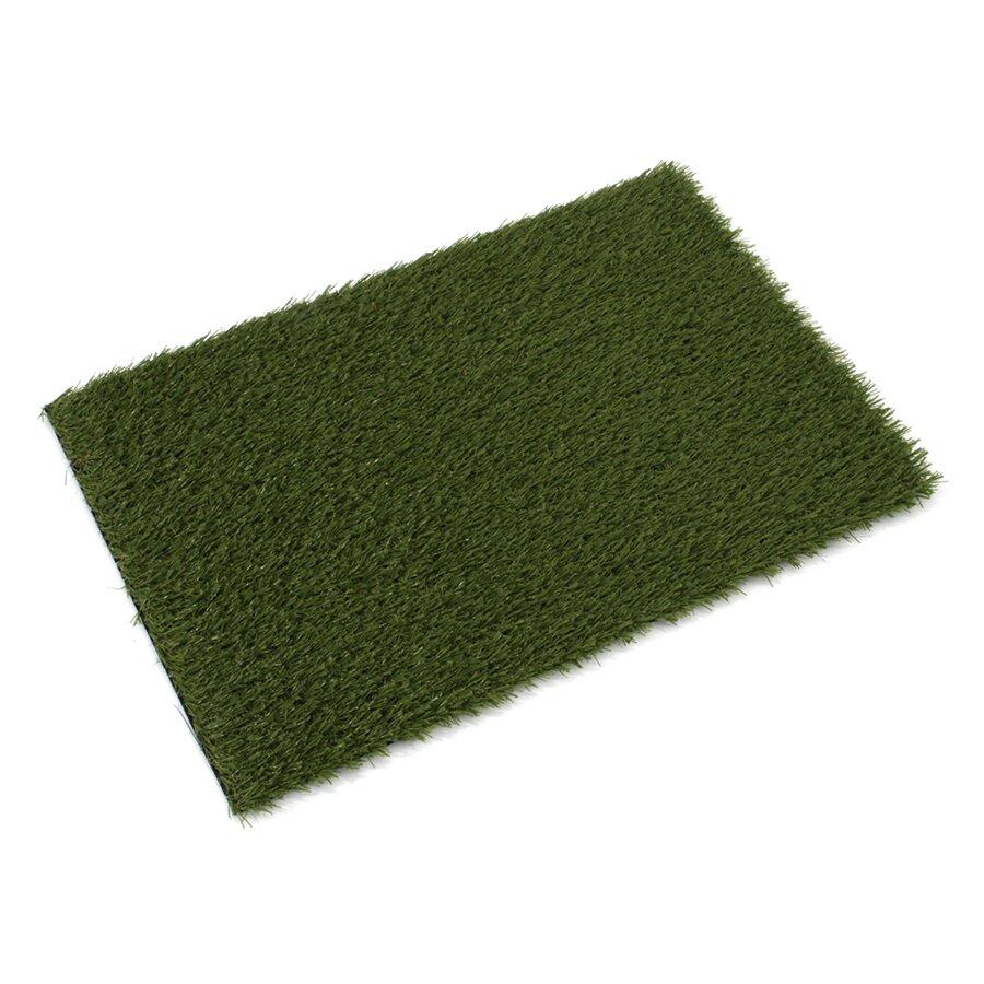 Zelená rohož s umělým trávníkem FLOMA Pesaro - 80 x 50 x 2 cm
