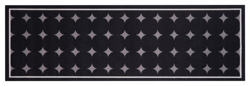 Černý moderní kusový bytový koberec běhoun Cook & Clean - délka 140 cm a šířka 45 cm