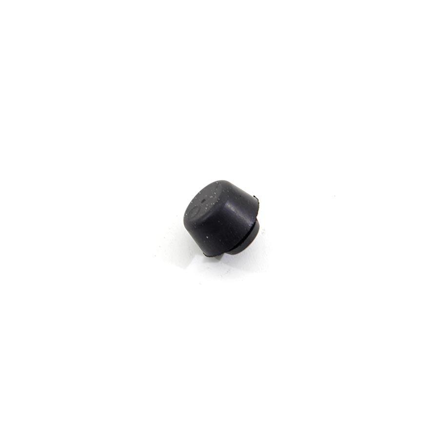 Černý pryžový doraz nástrčný do díry FLOMA - průměr 1,7 cm, výška 0,9 cm a výška krku 0,2 cm