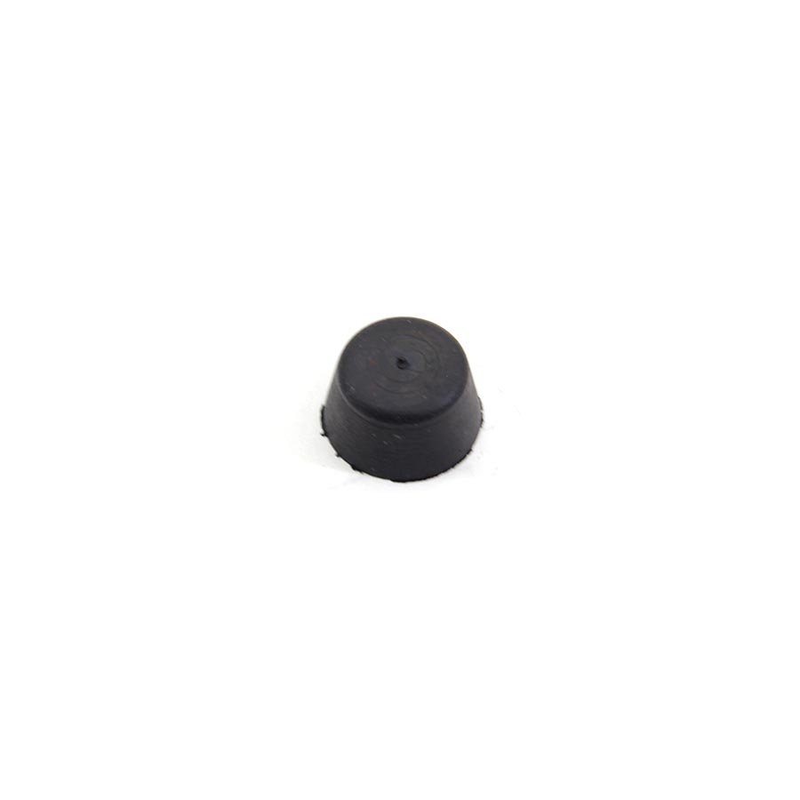 Černý pryžový doraz návlečný pro hlavu šroubu FLOMA - průměr 1,9 cm a výška 1 cm