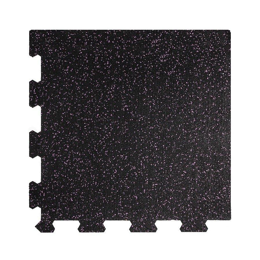 Různobarevná pryžová (10% EPDM STANDARD) modulární fitness deska (roh) SF1050 - délka 47,8 cm, šířka 47,8 cm a výška 1,6 cm