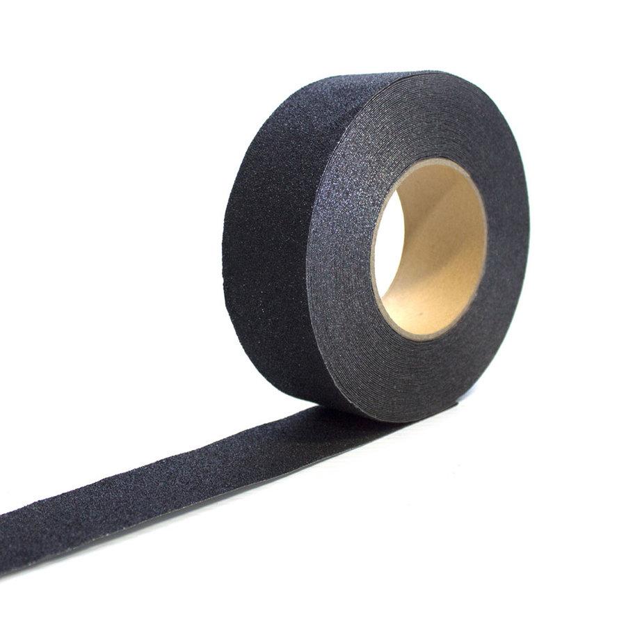 Černá korundová protiskluzová páska pro nerovné povrchy - délka 18,3 m