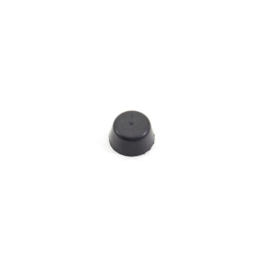 Černý pryžový doraz návlečný pro hlavu šroubu FLOMA - průměr 1,7 cm a výška 0,9 cm