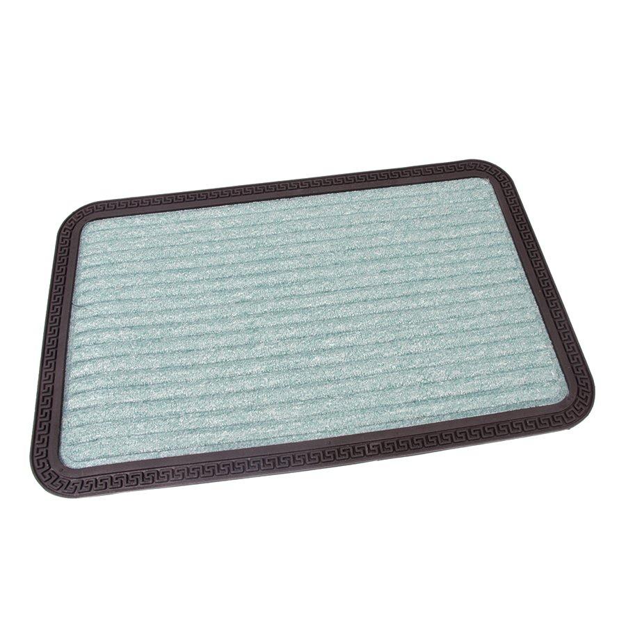 Zelená textilní vstupní venkovní čistící rohož Stripes, FLOMA - délka 40 cm, šířka 60 cm a výška 0,8 cm