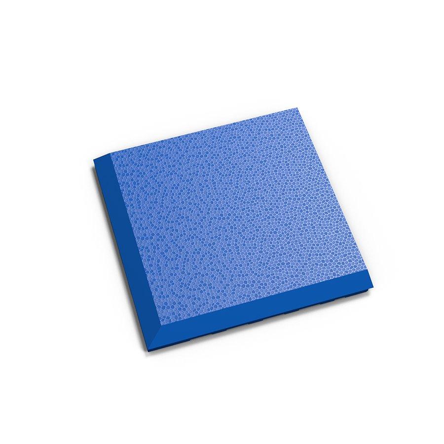 """Modrý plastový vinylový rohový nájezd """"typ C"""" Invisible 2038 (hadí kůže), Fortelock - délka 14,5 cm, šířka 14,5 cm a výška 0,67 cm"""