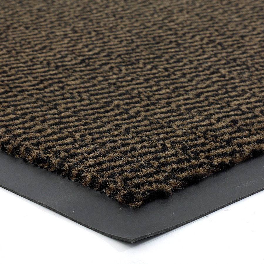 Hnědá metrážová čistící vnitřní vstupní rohož (lem - 2 strany) Spectrum, FLOMA - délka 1 cm a výška 0,5 cm