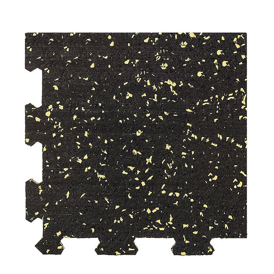 Různobarevná pryžová (10% EPDM PREMIUM) modulární fitness deska (roh) SF1050 - délka 95,6 cm, šířka 95,6 cm a výška 0,8 cm