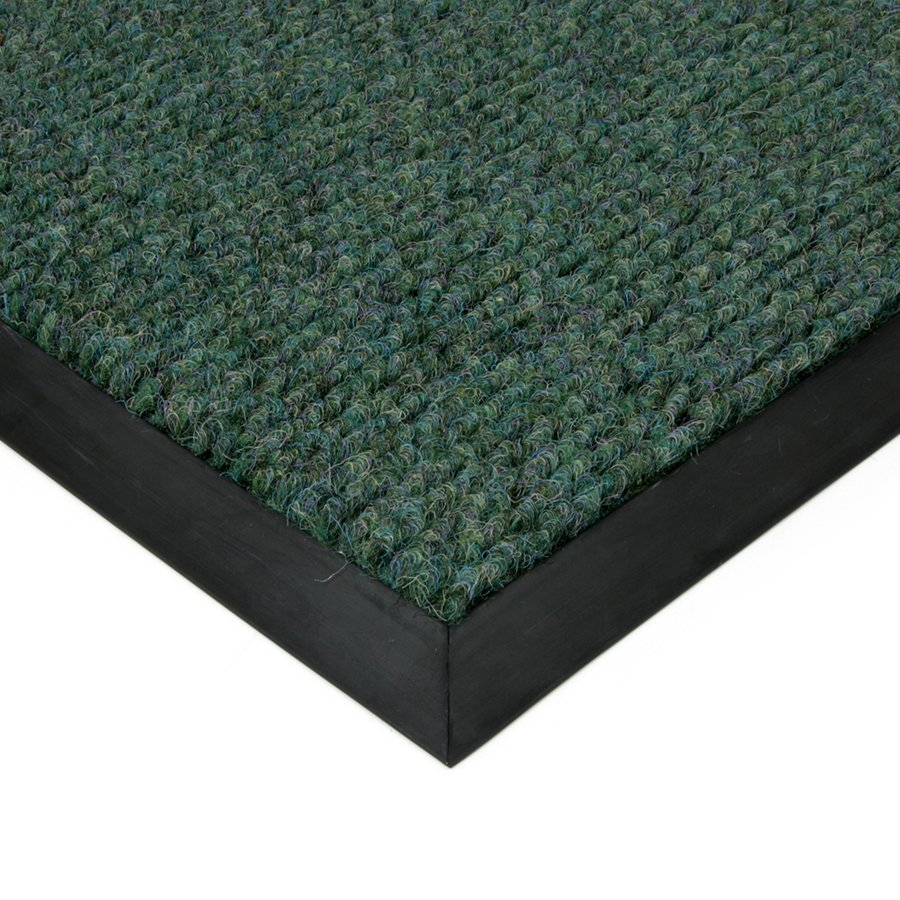 Zelená textilní zátěžová čistící vnitřní vstupní rohož Catrine, FLOMAT - délka 1 cm, šířka 1 cm a výška 1,35 cm