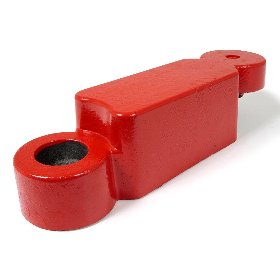 Červený plastový silniční obrubník - délka 58 cm, šířka 16 cm a výška 15,8 cm